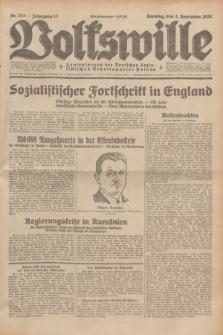 Volkswille : Zentralorgan der Deutschen Sozialistischen Arbeitspartei Polens. Jg.13, Nr. 254 (4 November 1928) + dod.