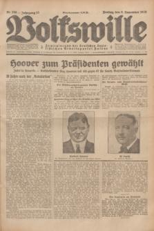 Volkswille : Zentralorgan der Deutschen Sozialistischen Arbeitspartei Polens. Jg.13, Nr. 258 (9 November 1928) + dod.