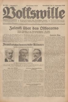 Volkswille : Zentralorgan der Deutschen Sozialistischen Arbeitspartei Polens. Jg.13, Nr. 259 (10 November 1928) + dod.