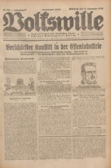 Volkswille : Zentralorgan der Deutschen Sozialistischen Arbeitspartei Polens. Jg.13, Nr. 262 (14 November 1928) + dod.