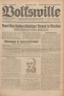 Volkswille : Zentralorgan der Deutschen Sozialistischen Arbeitspartei Polens. Jg.13, Nr. 263 (15 November 1928) + dod.