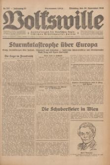 Volkswille : Zentralorgan der Deutschen Sozialistischen Arbeitspartei Polens. Jg.13, Nr. 267 (20 November 1928) + dod.