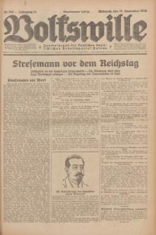 Volkswille : Zentralorgan der Deutschen Sozialistischen Arbeitspartei Polens. Jg.13, Nr. 268 (21 November 1928) + dod.