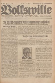 Volkswille : Zentralorgan der Deutschen Sozialistischen Arbeitspartei Polens. Jg.13, Nr. 269 (22 November 1928) + dod.
