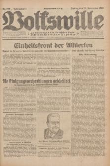 Volkswille : Zentralorgan der Deutschen Sozialistischen Arbeitspartei Polens. Jg.13, Nr. 270 (23 November 1928) + dod.