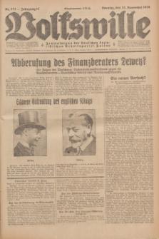 Volkswille : Zentralorgan der Deutschen Sozialistischen Arbeitspartei Polens. Jg.13, Nr. 272 (25 November 1928) + dod.