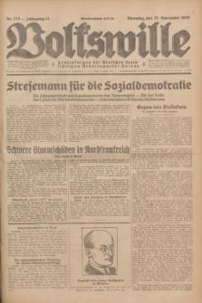 Volkswille : Zentralorgan der Deutschen Sozialistischen Arbeitspartei Polens. Jg.13, Nr. 273 (27 November 1928) + dod.
