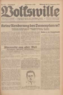 Volkswille : Zentralorgan der Deutschen Sozialistischen Arbeitspartei Polens. Jg.13, Nr. 274 (28 November 1928) + dod.