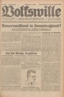Volkswille : Zentralorgan der Deutschen Sozialistischen Arbeitspartei Polens. Jg.13, Nr. 275 (29 November 1928) + dod.