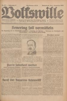 Volkswille : Zentralorgan der Deutschen Sozialistischen Arbeitspartei Polens. Jg.13, Nr. 277 (1 Dezember 1928) + dod.