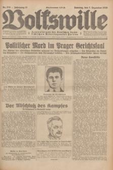 Volkswille : Zentralorgan der Deutschen Sozialistischen Arbeitspartei Polens. Jg.13, Nr. 278 (2 Dezember 1928) + dod.