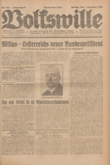 Volkswille : Zentralorgan der Deutschen Sozialistischen Arbeitspartei Polens. Jg.13, Nr. 282 (7 Dezember 1928) + dod.