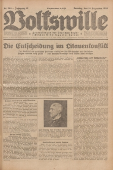 Volkswille : Zentralorgan der Deutschen Sozialistischen Arbeitspartei Polens. Jg.13, Nr. 289 (16 Dezember 1928) + dod.