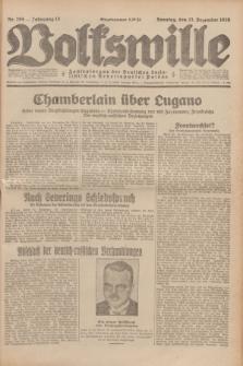 Volkswille : Zentralorgan der Deutschen Sozialistischen Arbeitspartei Polens. Jg.13, Nr. 295 (23 Dezember 1928) + dod.