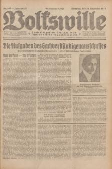 Volkswille : Zentralorgan der Deutschen Sozialistischen Arbeitspartei Polens. Jg.13, Nr. 296 (25 Dezember 1928) + dod.