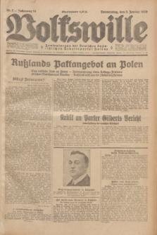 Volkswille : Zentralorgan der Deutschen Sozialistischen Arbeitspartei Polens. Jg.14, Nr. 2 (3 Januar 1929) + dod.