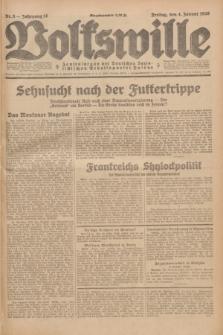 Volkswille : Zentralorgan der Deutschen Sozialistischen Arbeitspartei Polens. Jg.14, Nr. 3 (4 Januar 1929) + dod.