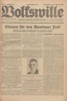 Volkswille : Zentralorgan der Deutschen Sozialistischen Arbeitspartei Polens. Jg.14, Nr. 4 (5 Januar 1929) + dod.
