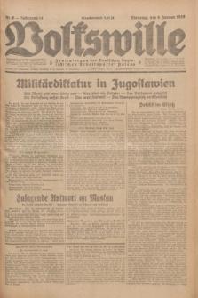Volkswille : Zentralorgan der Deutschen Sozialistischen Arbeitspartei Polens. Jg.14, Nr. 6 (8 Januar 1929) + dod.