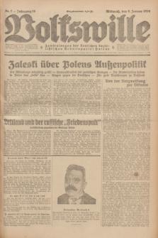 Volkswille : Zentralorgan der Deutschen Sozialistischen Arbeitspartei Polens. Jg.14, Nr. 7 (9 Januar 1929) + dod.