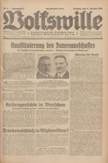 Volkswille : Zentralorgan der Deutschen Sozialistischen Arbeitspartei Polens. Jg.14, Nr. 9 (11 Januar 1929) + dod.