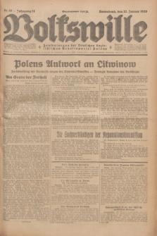 Volkswille : Zentralorgan der Deutschen Sozialistischen Arbeitspartei Polens. Jg.14, Nr. 10 (12 Januar 1929) + dod.