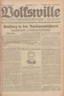 Volkswille : Zentralorgan der Deutschen Sozialistischen Arbeitspartei Polens. Jg.14, Nr. 11 (13 Januar 1929) + dod.