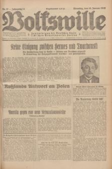 Volkswille : Zentralorgan der Deutschen Sozialistischen Arbeitspartei Polens. Jg.14, Nr. 12 (15 Januar 1929) + dod.