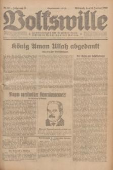 Volkswille : Zentralorgan der Deutschen Sozialistischen Arbeitspartei Polens. Jg.14, Nr. 13 (16 Januar 1929) + dod.