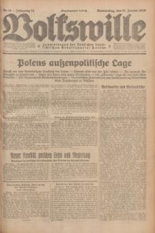 Volkswille : Zentralorgan der Deutschen Sozialistischen Arbeitspartei Polens. Jg.14, Nr. 14 (17 Januar 1929) + dod.