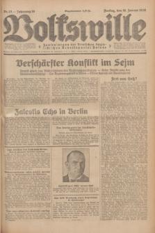 Volkswille : Zentralorgan der Deutschen Sozialistischen Arbeitspartei Polens. Jg.14, Nr. 15 (18 Januar 1929) + dod.