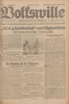 Volkswille : Zentralorgan der Deutschen Sozialistischen Arbeitspartei Polens. Jg.14, Nr. 16 (19 Januar 1929) + dod.