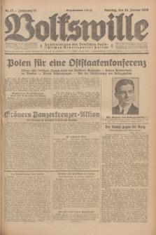 Volkswille : Zentralorgan der Deutschen Sozialistischen Arbeitspartei Polens. Jg.14, Nr. 17 (20 Januar 1929) + dod.