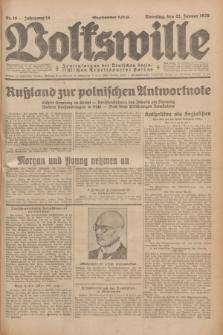 Volkswille : Zentralorgan der Deutschen Sozialistischen Arbeitspartei Polens. Jg.14, Nr. 18 (22 Januar 1929) + dod.
