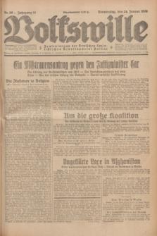 Volkswille : Zentralorgan der Deutschen Sozialistischen Arbeitspartei Polens. Jg.14, Nr. 20 (24 Januar 1929) + dod.