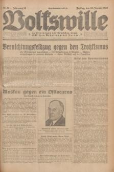Volkswille : Zentralorgan der Deutschen Sozialistischen Arbeitspartei Polens. Jg.14, Nr. 21 (25 Januar 1929) + dod.