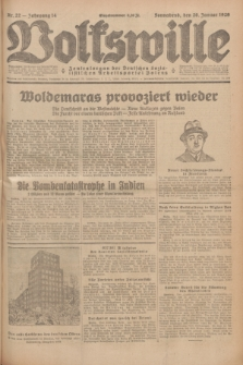 Volkswille : Zentralorgan der Deutschen Sozialistischen Arbeitspartei Polens. Jg.14, Nr. 22 (26 Januar 1929) + dod.