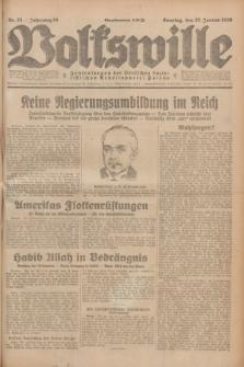 Volkswille : Zentralorgan der Deutschen Sozialistischen Arbeitspartei Polens. Jg.14, Nr. 23 (27 Januar 1929) + dod.