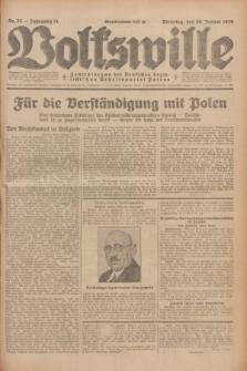 Volkswille : Zentralorgan der Deutschen Sozialistischen Arbeitspartei Polens. Jg.14, Nr. 24 (29 Januar 1929) + dod.