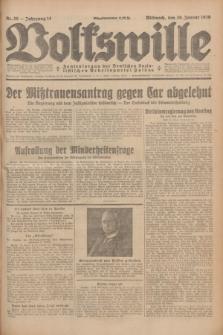 Volkswille : Zentralorgan der Deutschen Sozialistischen Arbeitspartei Polens. Jg.14, Nr. 25 (30 Januar 1929) + dod.