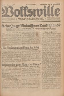 Volkswille : Zentralorgan der Deutschen Sozialistischen Arbeitspartei Polens. Jg.14, Nr. 26 (31 Januar 1929) + dod.