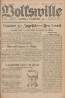 Volkswille : Zentralorgan der Deutschen Sozialistischen Arbeitspartei Polens. Jg.14, Nr. 28 (2 Februar 1929) + dod.