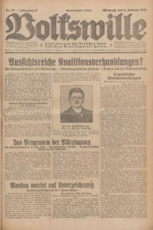 Volkswille : Zentralorgan der Deutschen Sozialistischen Arbeitspartei Polens. Jg.14, Nr. 30 (6 Februar 1929) + dod.