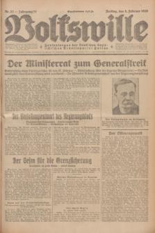 Volkswille : Zentralorgan der Deutschen Sozialistischen Arbeitspartei Polens. Jg.14, Nr. 32 (8 Februar 1929) + dod.