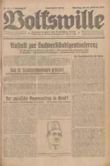 Volkswille : Zentralorgan der Deutschen Sozialistischen Arbeitspartei Polens. Jg.14, Nr. 34 (10 Februar 1929) + dod.