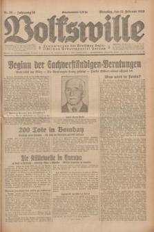 Volkswille : Zentralorgan der Deutschen Sozialistischen Arbeitspartei Polens. Jg.14, Nr. 35 (12 Februar 1929) + dod.