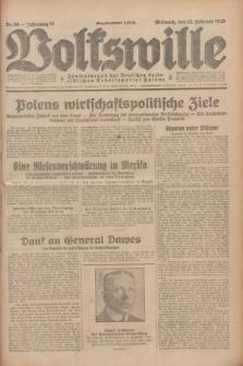 Volkswille : Zentralorgan der Deutschen Sozialistischen Arbeitspartei Polens. Jg.14, Nr. 36 (13 Februar 1929) + dod.