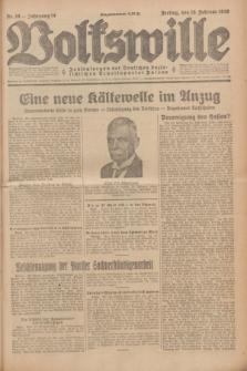 Volkswille : Zentralorgan der Deutschen Sozialistischen Arbeitspartei Polens. Jg.14, Nr. 38 (15 Februar 1929) + dod.