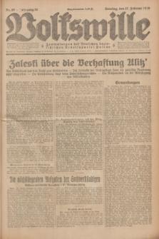 Volkswille : Zentralorgan der Deutschen Sozialistischen Arbeitspartei Polens. Jg.14, Nr. 40 (17 Februar 1929) + dod.