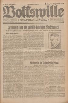 Volkswille : Zentralorgan der Deutschen Sozialistischen Arbeitspartei Polens. Jg.14, Nr. 44 (22 Februar 1929) + dod.